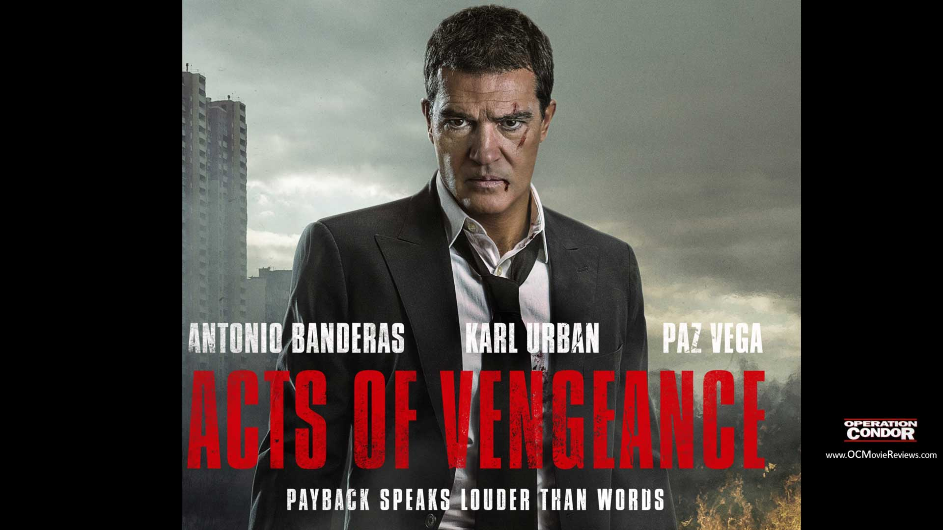 Acts Of Vengeance Review – Banderas Is Back In Action - OC Movie Reviews - Movie Reviews, Movie News, Documentary Reviews, Short Films, Short Film Reviews, Trailers, Movie Trailers, Interviews, film reviews, film news, hollywood, indie films, documentaries