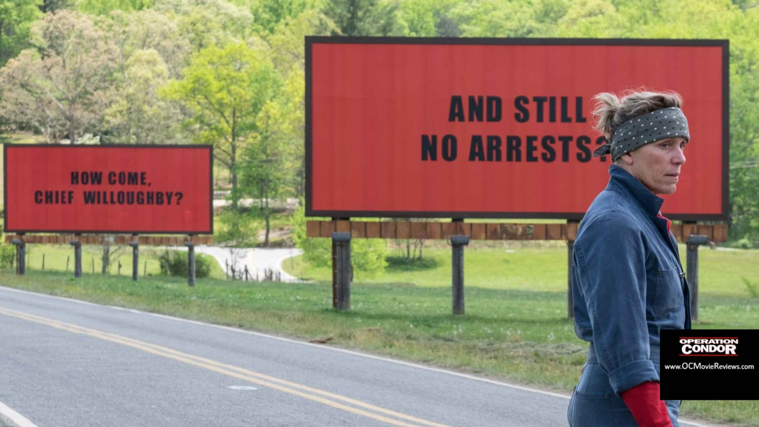 Three Billboards Outside Ebbing Missouri Review - OC Movie Reviews - Movie Reviews, Movie News, Documentary Reviews, Short Films, Short Film Reviews, Trailers, Movie Trailers, Interviews, film reviews, film news, hollywood, indie films, documentaries