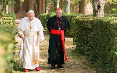 The Two Popes Review - OC Movie Reviews - Movie Reviews, TV Reviews, Streaming Reviews, Amazon Prime, Netflix, Apple TV, Movie News, Documentary Reviews, Short Films, Short Film Reviews, Trailers, Movie Trailers, Interviews, film reviews, film news, hollywood, indie films, documentaries, TV shows